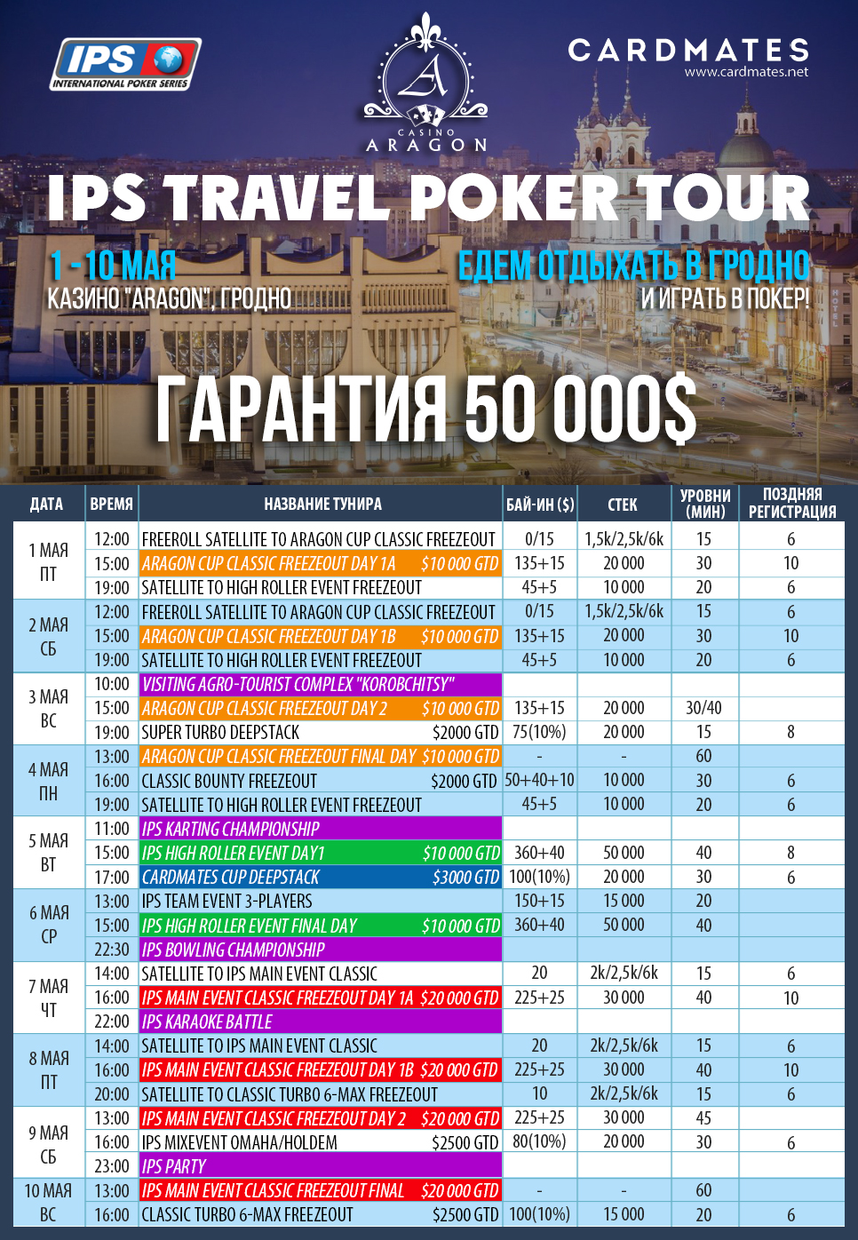 IPS TRAVEL POKER TOUR - 1-10 мая!